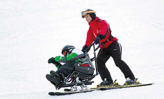 Bi-ski soveltavaan alppihiihtoon